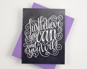 Just believe you can, and you will - one card with a purple envelope