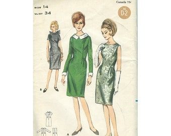 Butterick 3762 1960s Fitted Dress