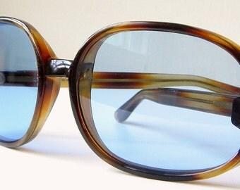 Vintage Blue Tinted Sunglasses Royal Italy