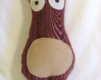 Wood Grain Flannel Mischievous Molar Critter