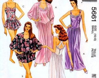 McCall's 5661 Misses' Sleepwear Sewing Pattern - Uncut - Size Small 10-12