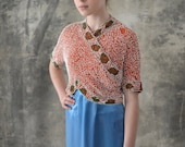 1920s Beaded Cropped Wrap Top