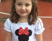 Personalized Monogrammed Minnie Mouse Applique Disney Ruffle Shirt