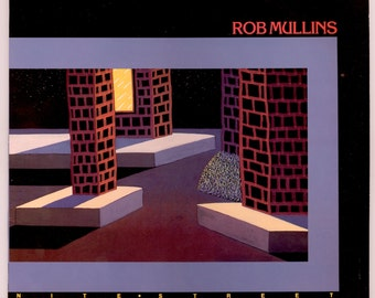 Rob Mullins, Nite Street, with Marty Ruddy on Bass & John Pisci on Drums, Cool Jazz Album, Vintage Vinyl Record Album, 1986 RMC LP -