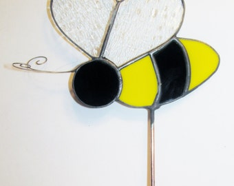 Stained Glass Garden Stake - Bee