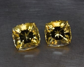Golden Citrine -- 16.36cttw Matched Cushions