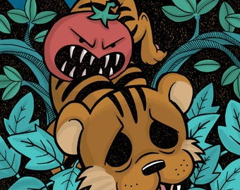 The Tiger and the Persimmon