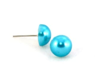 Pretty Blue Post Earrings