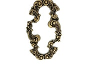 Ox Brass Stamping Heirloom Quality Victorian Style Long Oval Scroll Bracelet Frame Jewelry Making Assemblage USA Dr Brassy Steampunk