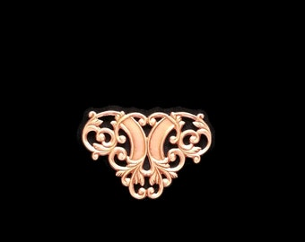 Copper Rose Gold Brass Stamping Filigree V Connector Heirloom Quality for Jewelry Making Made in the USA Dr Brassy Steampunk