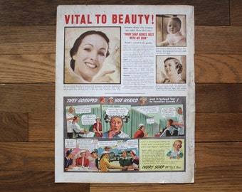 Vintage McCall's August 1937 Ivory Soap Ad/ Shredded Wheat Ad