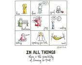 8x10 Print: In All Things