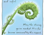 Blessing Series Greeting Card: Unclench, Unfurl