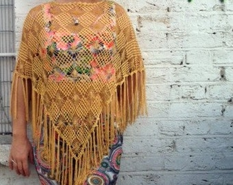 Soft and Light Knitted Summer Shawl