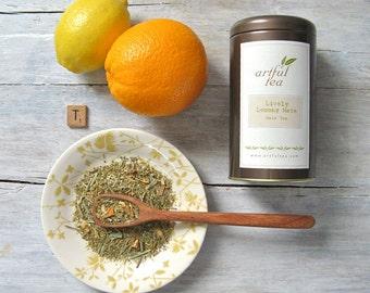 Lively Lemony Mate Tea • 3.5 oz. Tin • Yerba Mate with Lemongrass & Orange • Loose Leaf Tea