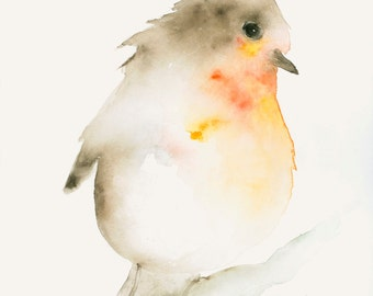 Watercolor Bird Art Print from Original Watercolor