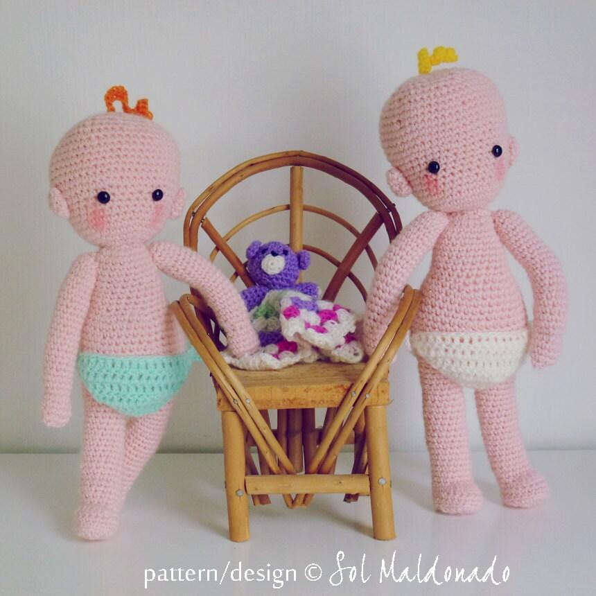 Baby Doll Crochet pattern amigurumi PDF Instant Download