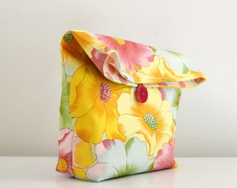 Floral lunch bag / cosmetic  case / pouch bag