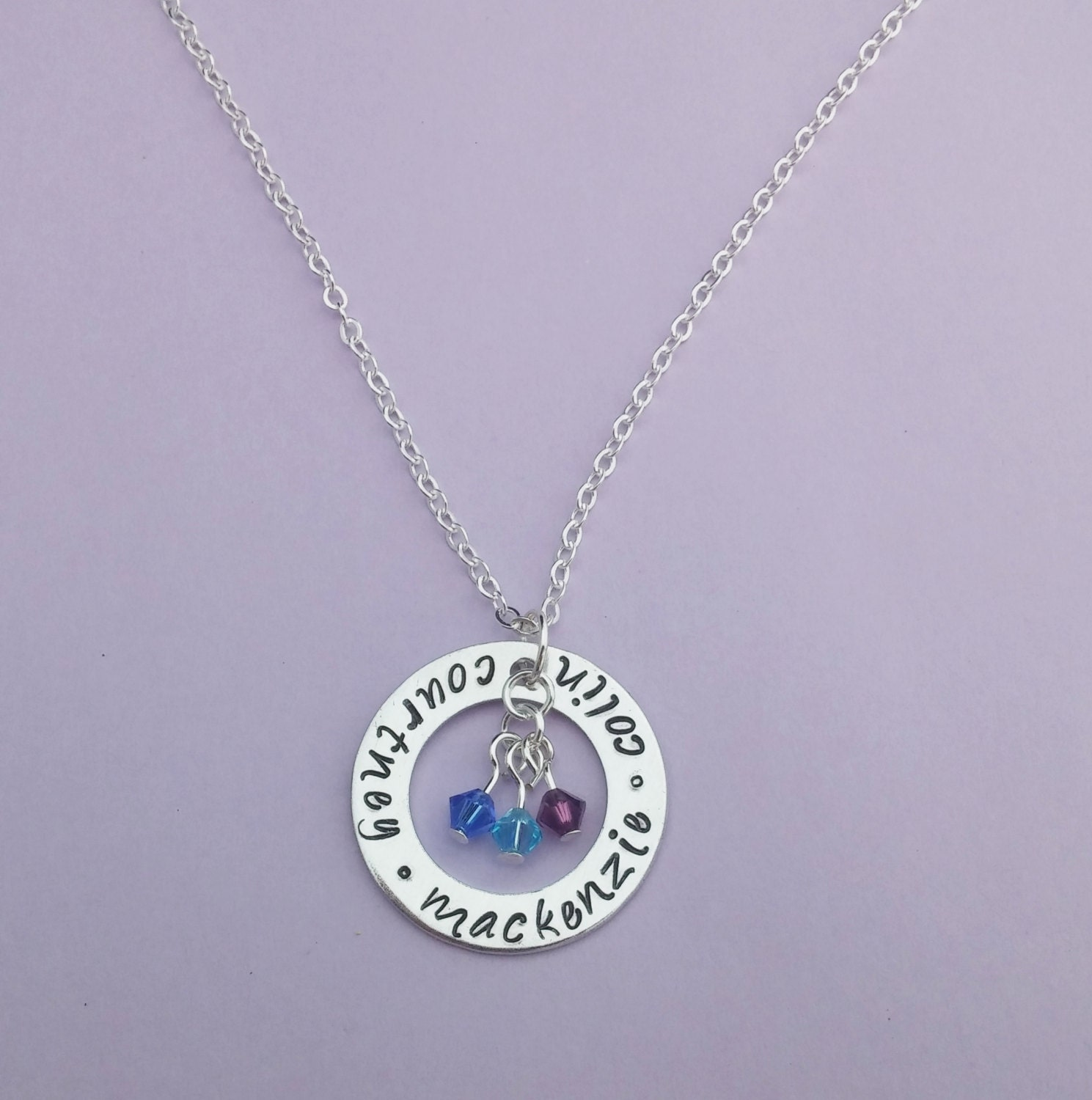 personalized family necklace necklace with kids names and