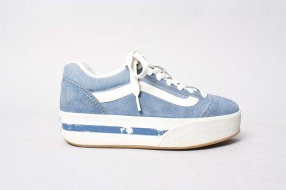 Vans Pastel Blue 90s Vintage Vans Skate Pastel