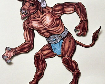 Minotaur Articulated Paper Doll