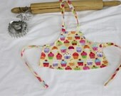 Gourmet Yellow Cupcakes Doll Apron
