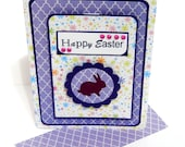 Happy Easter Card with Matching Embellished Envelope