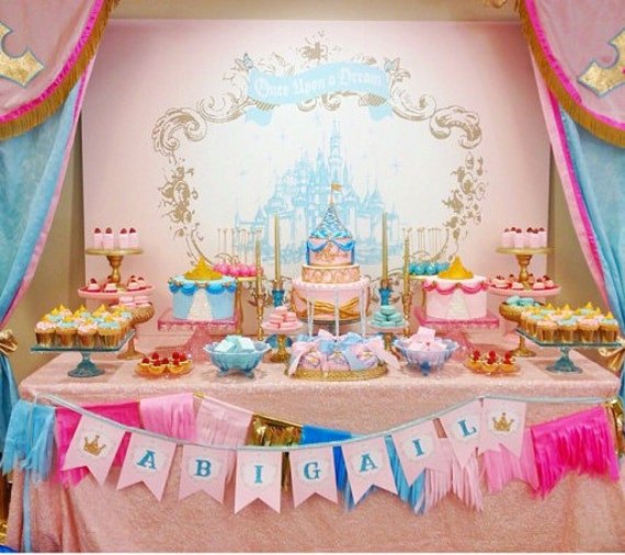 Princess party printable backdrop by itsy belle - Princess party wall decorations ...