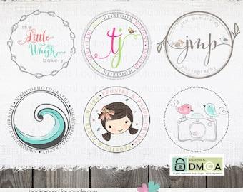 sticker design custom sticker design circle Watermark Sticker File alternate logo made to match your premade or custom logo.
