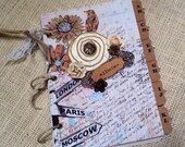 Chic Travel Style Address Book with Tabs and Pockets