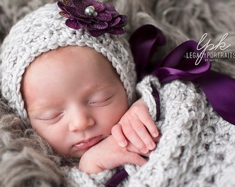 Crochet Pattern for Kylie Baby Bonnet Hat - 6 sizes, newborn to child - Welcome to sell finished items