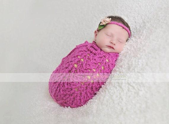 Crochet Pattern for Arrowhead Swaddle Sack or Cocoon preemie