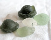 Rare Sea Glass Kick-Ups in a variety of colours, Set of 6, Excellent Craft Supplies, Frosted and Surf Tumbled