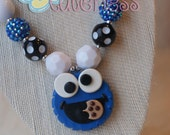 Cookie Monster Chunky Necklace - Sesame Street