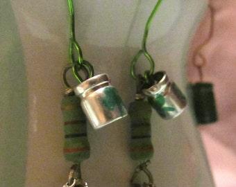 Green Goddess Electrifying Earrings