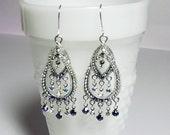 Swarovski Rhinestone Chandelier Earrings, Valentines Mothers Day Mom Sister Bridesmaid Girlfriend Wife Wedding Jewelry Gift, Long