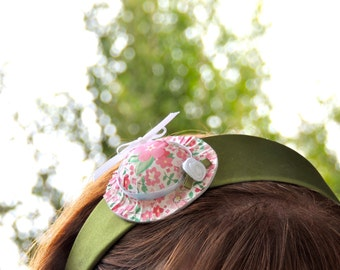 Pink and Green Mini Hat Headband
