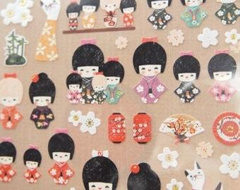 Japan Doll Sticker (1 Sheet)