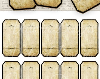 Blank Apothecary Labels printable bottle jar labels add text digital graphics instant download Digital Collage Sheet - VD0304