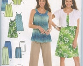 Simplicity 3799 Misses' Dress or Tunic, Cropped Pants, City Shorts, and Jacket Sewing Pattern Size XXS, XS, S, M Uncut