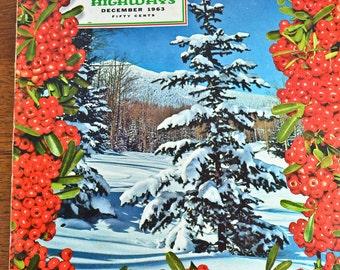 Arizona Highways Magazine, published 1963, Christmas Theme
