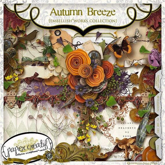 Digital Scrapbook Kit Autumn Breeze by Papier Creatif