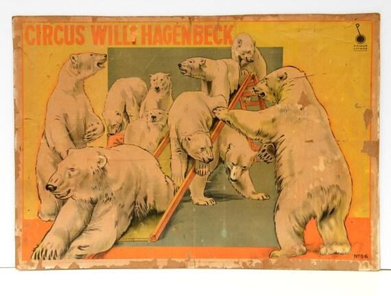 Circus Poster Wall Hanging Lithograph Circus Big