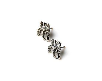 Scorpion Stud Earrings - Accessories - Women's Jewelry - Gift Idea - Handmade - Gift Box Included