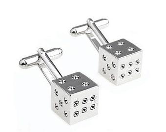 Dice Cufflinks - Groomsmen Gift - Men's Jewelry - Gift Box Included