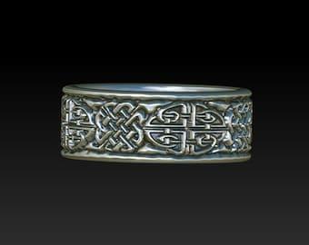 celtic ring   celtic band    celtic wedding ring   wedding band YB14