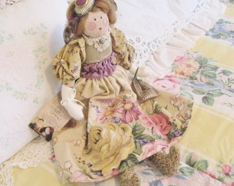 Cloth Doll OOAK Art Doll Soft Sculpture Doll Cloth Doll LILA 18 inch Folk Art Doll Handmade Handcrafted CharlotteStyle SIGNED