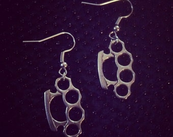 Brass knuckle Earrings