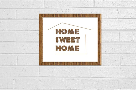 "Rustic Wood Look ""Home Sweet Home"" Minimal Print 8x10 Wall Decor Printable Instant Download Wood Look Sign Home Decor Wall Quote"