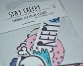 Stay Creepy Sticker Set
